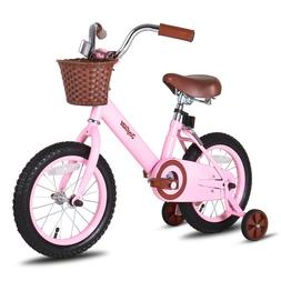 JoyStar 14 16 Inch Vintage Kids Bike  for Girls with Front B