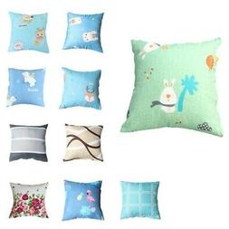 16*16inch Square Soft Fabric Pillow Case Throw Cushion Cover