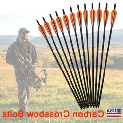 16-22 inch Crossbow Bolts Mixed Carbon Arrows for Archery Ta