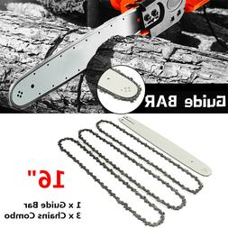 16 Inch Chain Saw Guide Bar with 3pcs Chains for STIHL 009 0