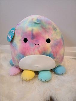 "Squishmallow 16"" Inch OPAL Octopus Tye Dye Plushies Cuddle T"
