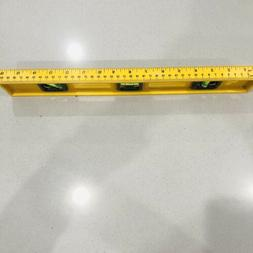 16-Inch Plastic Bubble Level Triple Ruler Lightweight Measur