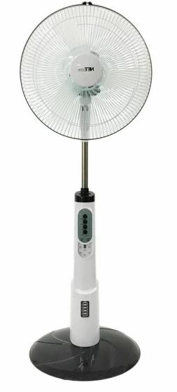 16 Inch Rechargeable Battery Oscillating Adjustable Pedestal