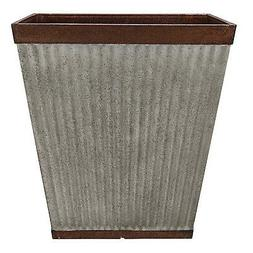 Southern Patio 16 Inch Square Rustic Resin Outdoor Box Flowe