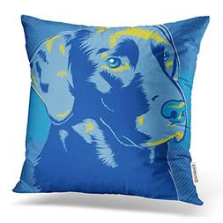 Emvency 16X16 Inch Throw Pillow Cover Polyester Black Lab La