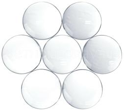 30mm Round Glass Cabochons - Clear Magnifying Dome Cabs - 1