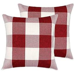 4TH Emotion Throw Pillow Covers 16x16 Inch Christmas Red And