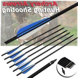 6x 16-22 inch Crossbow Bolts Carbon Arrows Archery Hunting S