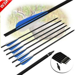 6x 16Inch Archery Crossbow Carbon Arrows For Hunting Shootin