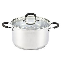Cook N Home 02418 Stainless Steel Lid 5-Quart Stockpot, 5-Qt