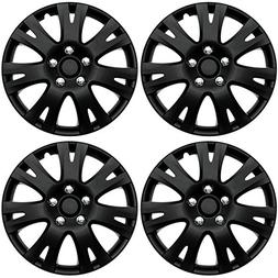 ABS Plastic Aftermarket Wheel Cover Matte Black Special Fini