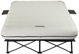 Coleman Queen Airbed Folding Cot with Side Tables and 4D Bat