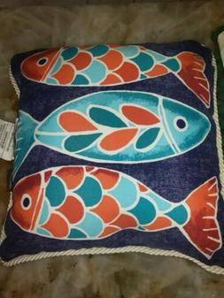 SET OF 2 Allen Roth 16Inch Outdoor Waterproof Decorative Fis