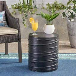 Aubree Outdoor 16-inch Light-Weight Concrete Side Table