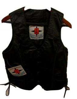 Bike Star Motorcycle Vest Leather  Size M NWT