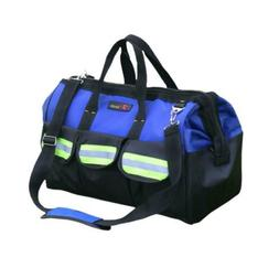 ZOJO Blue Reflective Tool Bags For Men 16 inch Wide Mouth 18