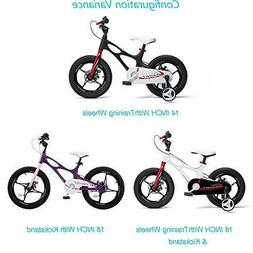 RoyalBaby Boys Girls Kids Bike 16 Inch Space Shuttle Magnesi