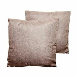 brown 16 inch throw pillows set of