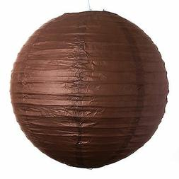 """Chocolate Paper Party Wedding Lanterns - 12"""", 16"""" and 20"""" s"""