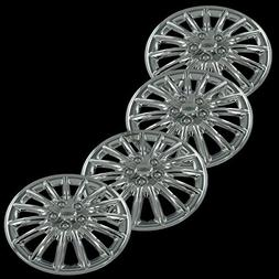 "Chrome 16"" Universal Fit Hub Cap Wheel Covers - Set of 4"