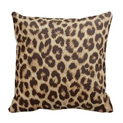 Hebylucjb Classic Brown Leopard Print Animal Pattern Throw P