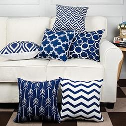 Modern Homes 100% Cotton Decorative Throw Pillow Covers Cush