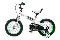 "RoyalBaby CubeTube Buttons 16""  Bicycle for Kids, Green"