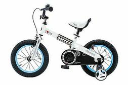 "RoyalBaby CubeTube Buttons 12""  Bicycle for Kids, Blue"