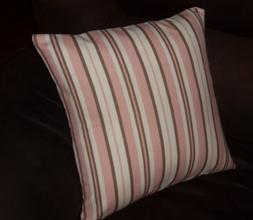 Decorator weight cotton 16 inch pillow cover pink brown whit