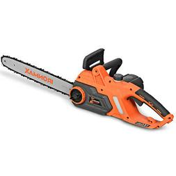 Electric 16-Inch Chain Saw Compact Powerful Chainsaw 13Amp W