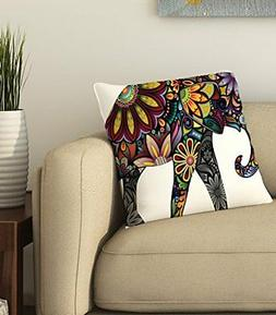 Elephant Cotton Throw Pillow Case Cushion Cover Sofa Bed Car