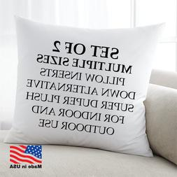 Euro Pillow Stuffing Throw Pillow Insert Form inserts USA Co