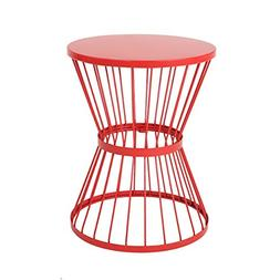 Great Deal Furniture Fern Outdoor 16 Inch Matte Red Iron Sid
