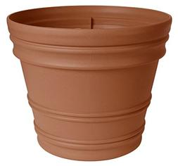 Bloem Fiskars 12 Inch Rolled Rim Pot, Color Clay