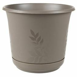 "Bloem Freesia Planter w/Saucer, 16"", Peppercorn"
