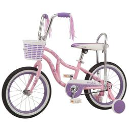 Girls Bike, Pink, 16-Inch Wheels, Training Wheels, Single Sp