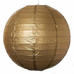"Gold Paper Party Wedding Lanterns - 12"", 16"" and 20"" sizes"