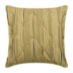 Gold Pillow Cover Handmade 16x16 inch Faux Leather, Texture
