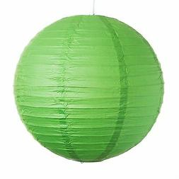 "Green Paper Party Wedding Lanterns - 12"", 16"" and 20"" sizes"