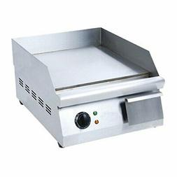 Adcraft GRID-16 16-Inch Countertop Griddle, Stainless Steel,