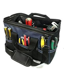 Rhino 16 inch Heavy Duty Wide Mouth Contractor Tool Bag With