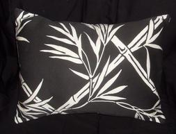 Heavy weight cotton 12 x 16 inch pillow cover black & white