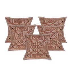 Indian Embroidery Cutwork Cotton Throw Pillow Cushion Covers
