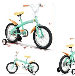 Kids Bicycle 16 With Training Wheels Boys Bike Green With Be