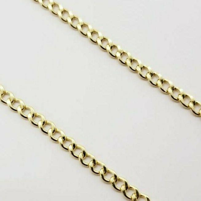 """10K Solid Gold Cuban Necklace 2MM 20"""""""
