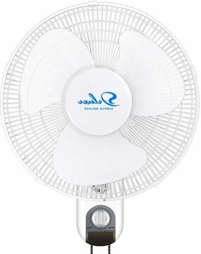 16 inch 3 speed oscillating wall mount