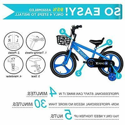Dripex 16 Inch Bike with Training and Kickstand for Blue