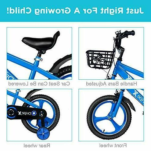 Dripex 16 Kids Bike with Training and Blue