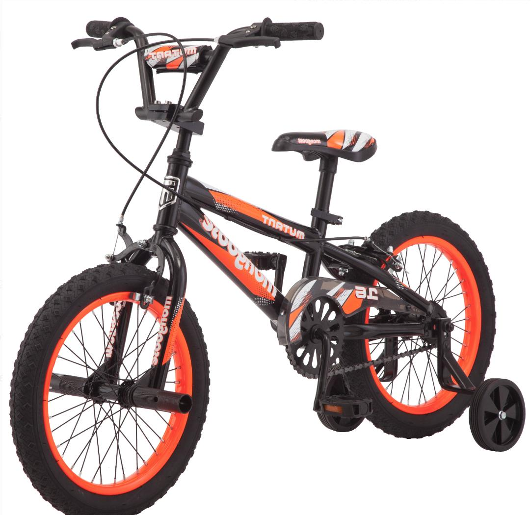 16 Inch Mongoose Orange Bike Gift for Kids Child Bicycle Boy