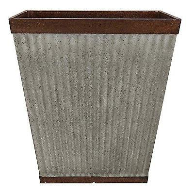16 inch square rustic resin outdoor box